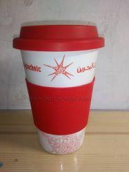 Cadeau promotionnel confort Grip silicone tasse à café en porcelaine