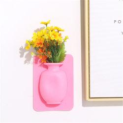 A Magia Coolnice Self-Adhesive removível pendurar na parede criativa vaso de Silicone
