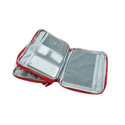 Double Deck bolsa impermeable organizador para memoria USB de viaje Bolsas de almacenamiento de la batería
