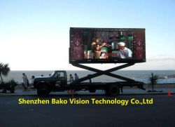 P4.81 P6.67 móvil estable IP65 Publicidad LED LED Pantalla cartelera televisores para coche en movimiento/CAMIÓN