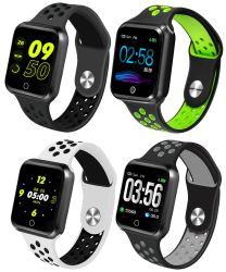 S226 1.3inch deux tons Étui en silicone colorées de la fréquence cardiaque Moniteur de pression sanguine Smart Watch 2019