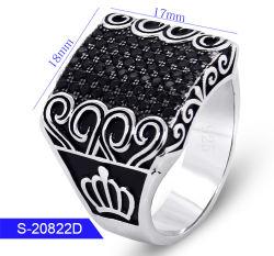Groothandel Nieuwe Model Fashion Silver Jewelry Kubieke Zirconia Stone Ring Voor De Mens