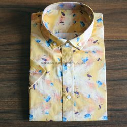 قطن [ديجتل] تم يطبع قميص