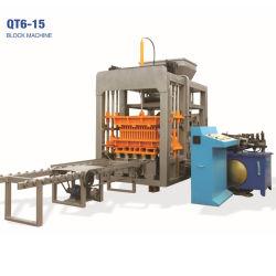 O Qt6-15 totalmente automático de cimento hidráulico/Concreto/Oco sólidos/Espalhadoras Bloquear/máquina de tijolos para material de construção do preço do fabricante