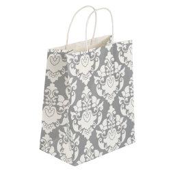 ورق أبيض للحقيبة الورقية للحقيبة الورقية للحرف للبيع الساخن الشعار المخصص للطباعة حقيبة حمل حقيبة تسوق ورق