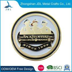 L'usine a fait de gros médaillon en laiton antique cuivre antique pièce comme cadeau de promotion de la Malaisie Boîte de présentation de la Police de la broche Coin (567)