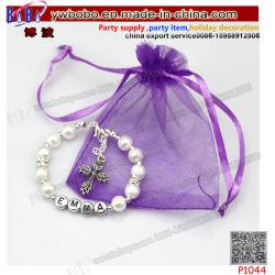 Pulsera de plata de las niñas Kid cualquier nombre personalizado regalo de cumpleaños el encanto de joyas (P1044)