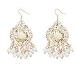 Style ethnique promotionnel Fashion Hollow Out tissé à perles de Bohême Earring disque Tassel Earrings