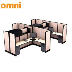 Quatre bureaux du Siège de l'armoire standard de partitions de tailles de meubles de la station de travail