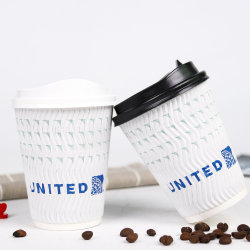 8oz de prachtige Aangepaste Beschikbare het Drinken van de Muur van Singel/van het Dubbel/van de Rimpeling Hete/Koude Koppen van het Document van de Koffie met Deksels