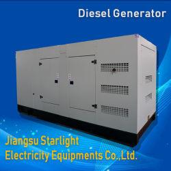 275kw ShangchaiエンジンSc13G420d2によってセットされる水によって冷却される無声ディーゼル発電機