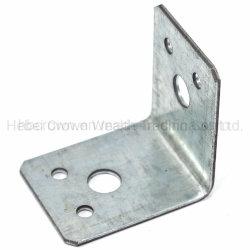 電流を通された鋼鉄L形の角度のコーナーの家具ブラケット