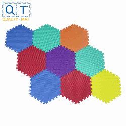 Отделение математических наук Qt Non-Toxic запаха Formamide ниже 200ppm 12X 12в 9pcs/Set детей из пеноматериала EVA взаимосвязанных с шестигранной головкой головоломки коврик