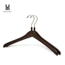 Custom Cinzas de madeira Cabide para mulher com gancho