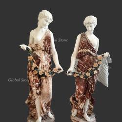 La sculpture de marbre Life-Size Mesdames statue de pierre (GSS-200)