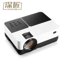 2019 Vente chaude Mini projecteur 1800 Affichage de synchronisation filaire Lumen plus stable que le WiFi Beamer Film AC3 HD projecteur VGA