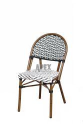 Aspecto de bambú aluminio silla de mimbre para Restaurante