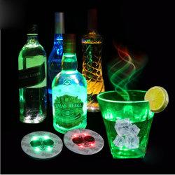 Las luces de la botella de las luces de los discos posavasos pegatina