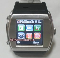 쿼드 악대 이동 전화 시계, 스크린 1.5 인치 접촉, Bluetooth 전화, MP3, MP4 의 사진기 (Q008)