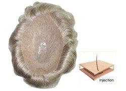 Remyの人間の毛髪のゆとり薄いPUの注入の毛システムToupees