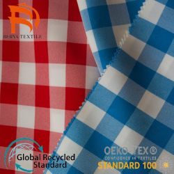 China Nylon Suppliers Fashion Design Garens Dyed Tartan Plaid ademend Voering