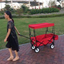 Kinder, die Karren-Spielzeug-faltbaren Lastwagen falten