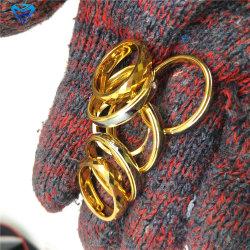 Mirrow facetados Anillo de tungsteno de oro polaco forma de rombo