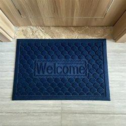 Polyester en rubberen deurmat met antislipsteun voor Welkom vloermatten