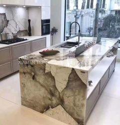 Piedra prefabricada negro/gris/blanco/azul/verde/rojo/amarillo/Mármol granito cuarzo/cocina encimera de piedra/tapas para proyectos hoteleros