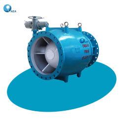 La energía hidroeléctrica de diámetro grande fundición de acero pintura epoxi resistente a la corrosión de descarga gratuita de brida Jet de la válvula de pistón de pistón hueco