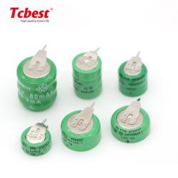 2,4 V 3,6V 80mAh/110mAh/40mAh batterie rechargeable NiMH fabricant de piles 3,6V 80h/110h Ni-MH Pack de batterie de la pile bouton