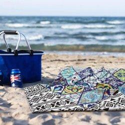 Stampa Towel da spiaggia in pelle scamosciata riciclata leggero