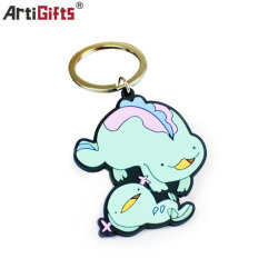 PVC molle di gomma riflettente Keychain del Anime LED del fumetto personalizzato ricordo
