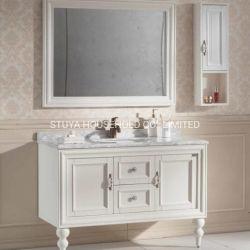 Governo di stanza da bagno semplice americano standard di legno solido della quercia bianca della perla della mobilia di stile dell'Europa