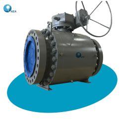 Api 6D Asiento de Acero al Carbono Conectada con Brida Válvula de Bola Flotante y Válvula de Bola Montada en Muñón