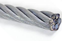 6*19+FC API, DIN, multibancos, GB galvanizado revestido de PVC &Diâmetro lisa 12mm de cabos de aço para pendurar e o fio terra Use