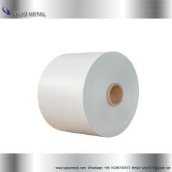 Revestimento de PE1100 Cor branca em ligas de alumínio revestido a folha de metal de alumínio da bobina para o Teto