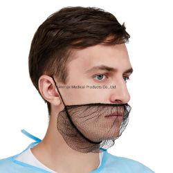 A prueba de polvo Cubre barba de farmacia industrial y/Laboratorio/Agrícola Tejida desechables Barba cubierta con Earloop PP