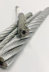 Kabel met grote trekspanning van de Draad van het Ijzer van het Staal van de Sterkte de Hete Ondergedompelde Gegalvaniseerde 6X24 FC