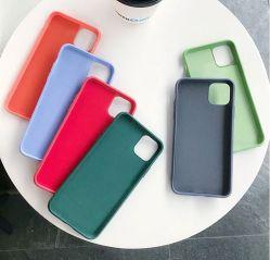 스크래치 프리 세관용 색상 및 고품질 실리콘 캔디 색상 새로운 iPhone12PRO 용 극세사 액체 실리콘 폰 케이스 후면 덮개 극세사