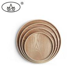 Round utensílios chá Jantar Placa Cerveja Circular em madeira contraplacada de MDF Snack alimentar que serve a bandeja