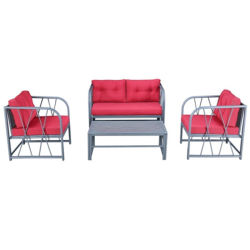 رماديّ [كستينغ لومينوم] يعزل طاولة وكرسي تثبيت/مزدوجة أريكة محدّد تصميم خارجيّة يعيش أثاث لازم