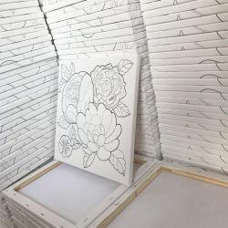 En pur coton prix d'usine en toile tendue la taille de 10X10 Mini Art toile personnalisé plus d'huile de châssis de peinture de chevalet pour ordinateur de bureau dans