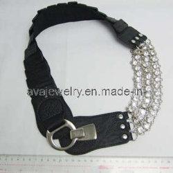 نساء وسط بلّوريّة [إلستيكلّوي] إبزيم حزام سير ([بل-1740])