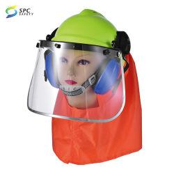 Leichte Sicherheits-Sturzhelm PC Gesichts-Schild-Maske AntiNoice Ohrenschützer