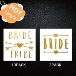 12PCS/Set, das die Brautjunggeselle-Partei-heißen stempelnden Tätowierung-Aufkleber eingestellt Wedding ist