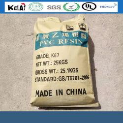Poudre blanche Chlorid polyvinyle SG-5 La résine de PVC K-67