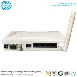 Fibra diplomata Ce Epon ottico ONU della casella superiore stabilita di CATV con 4ge+CATV