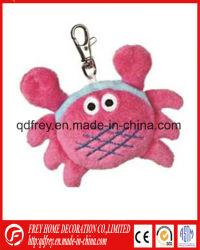 Mini Animal Llavero muñeco de peluche de rellenos de cangrejo