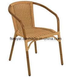 O restaurante do pátio exterior de alumínio mobiliário olhar de bambu Cadeira de jantar